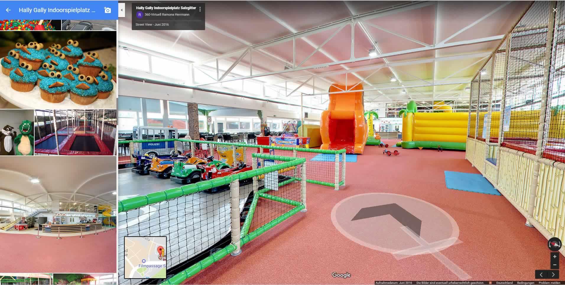 Virtueller 360 Grad Indoorspielplatz Rundgang für Google Maps