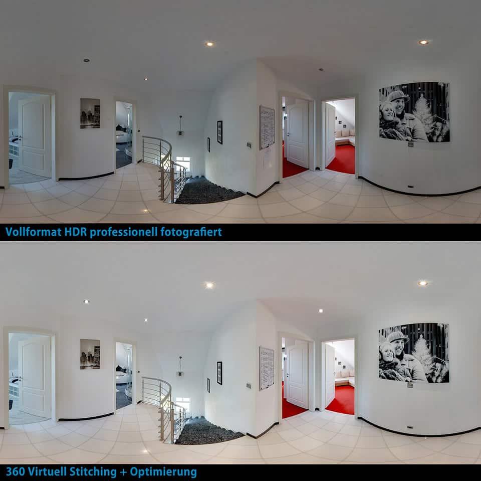Optimierung Vergleich von HDR Fotografie zu Photoshop Optimierung virtuelles Panorama