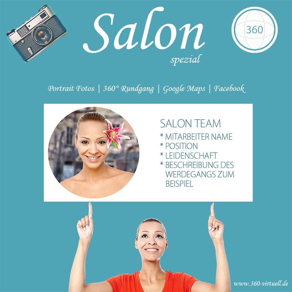 Werbung für Salon