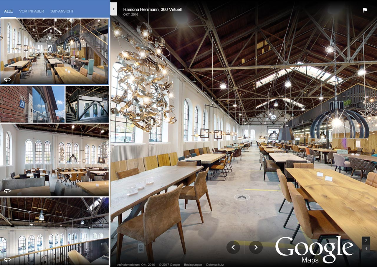 virtuelle tour auf google maps