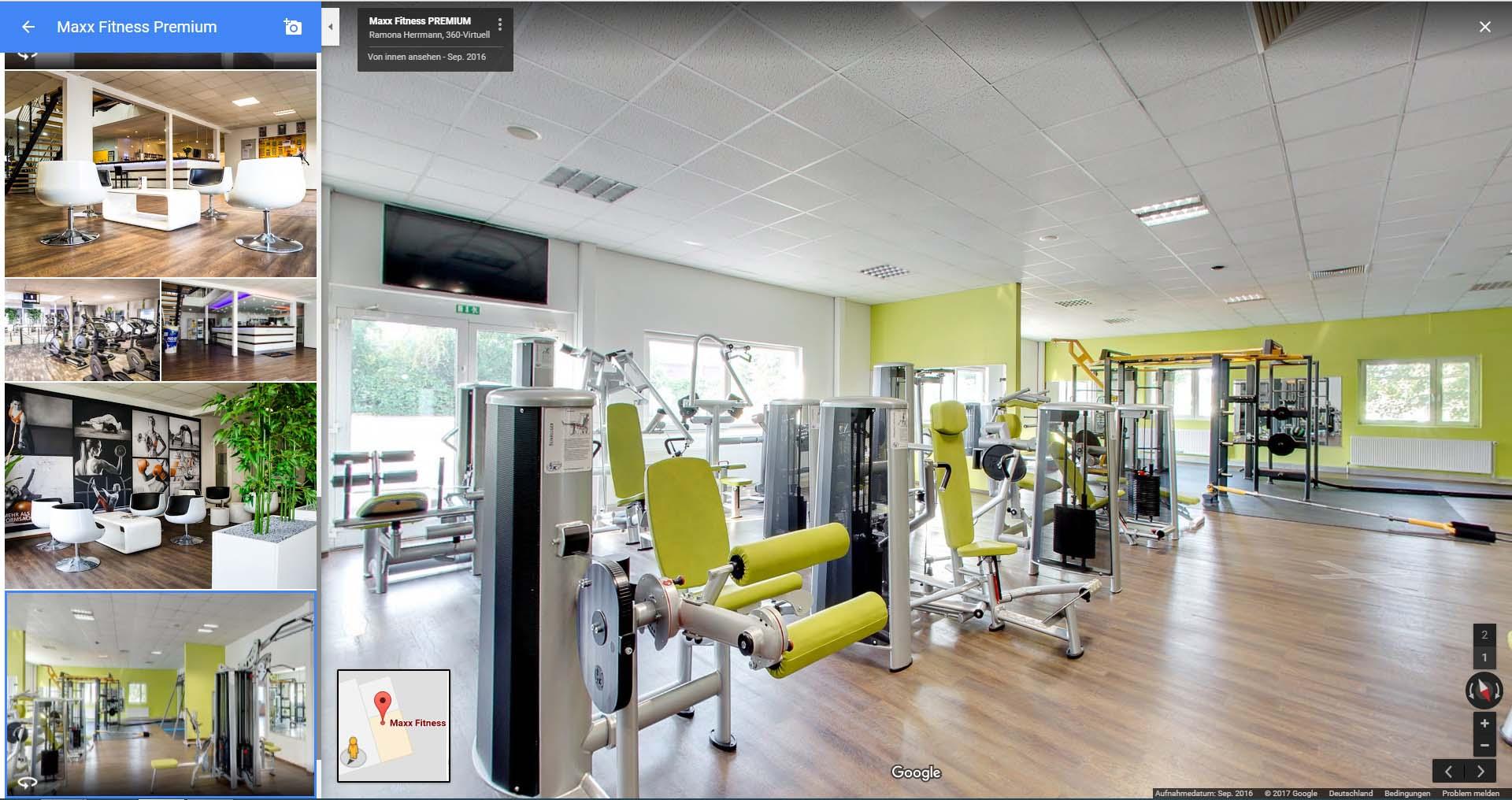 Fitnessstudio Rundgang