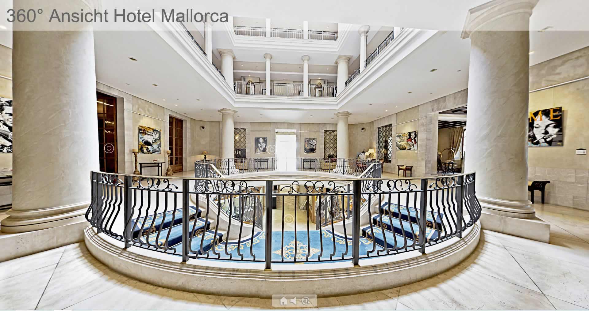 Virtuelle 360 Grad Tour durch eine Hotel auf Mallorca