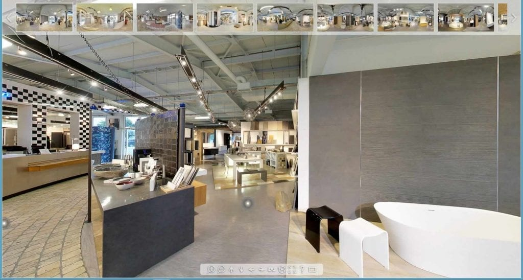 360 Grad Rundgang durch die Fliesenausstellung in Hannover
