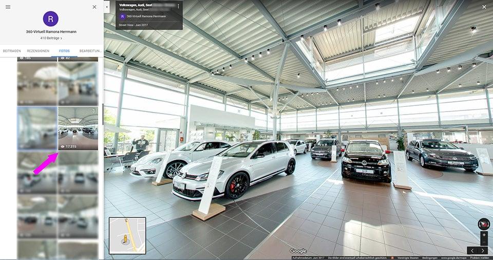 VW Autohaus Google Maps Rundgang