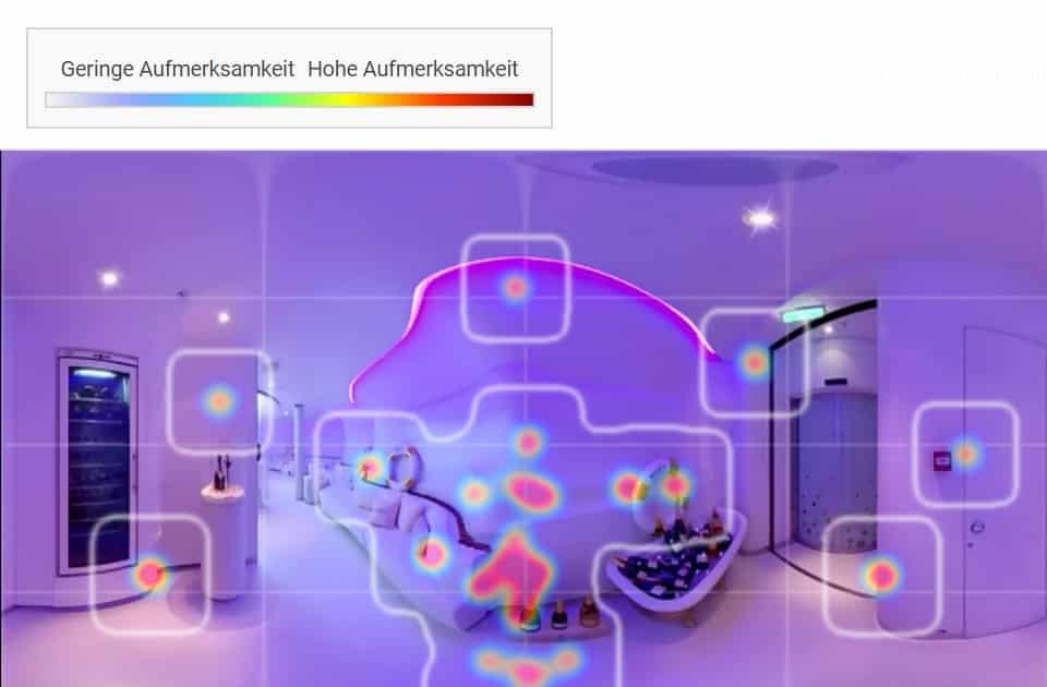 Eye Tracking Analyse Virtueller Rundgang 360 Grad Video im Handel und lokalen Geschäft