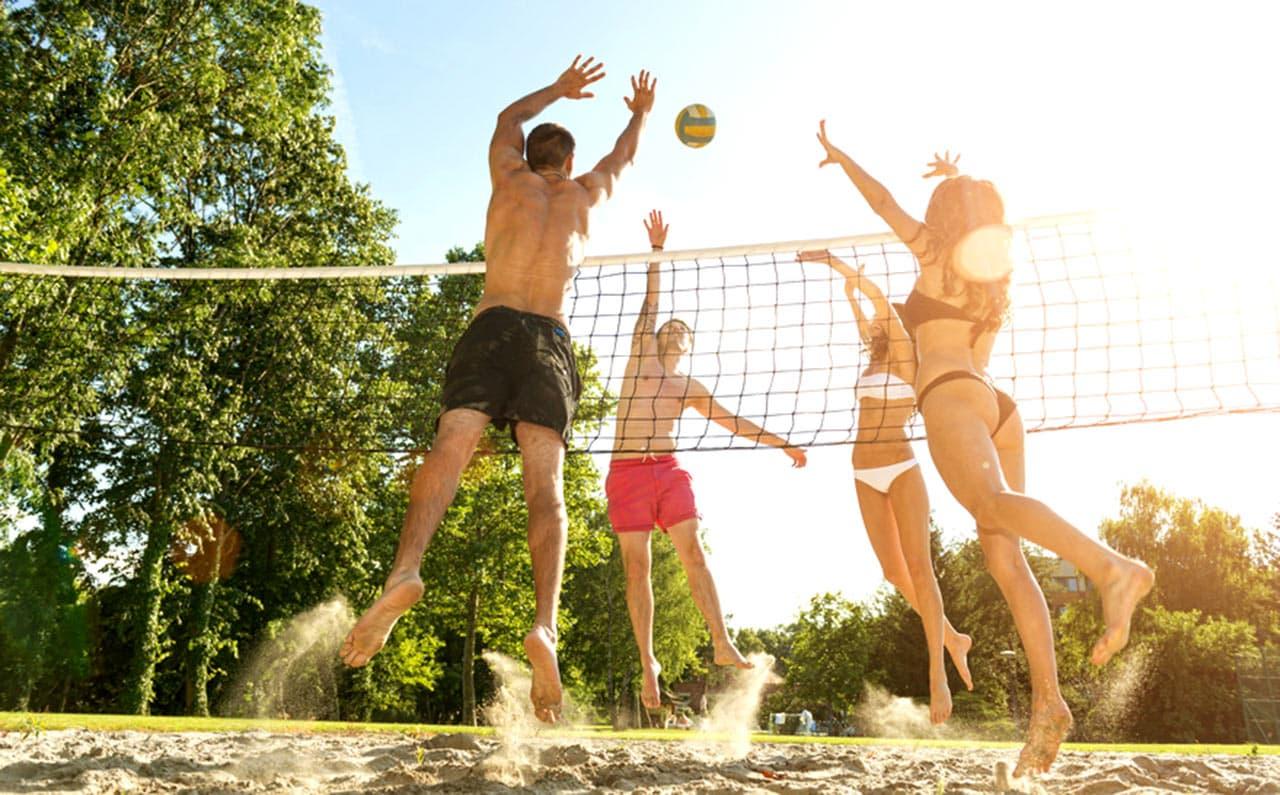 Volleyball Platz Unternehmen für ein gutes Unternehmens Klima und Image