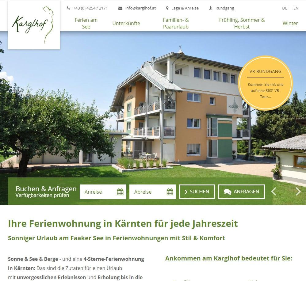Hotel in Kärnten virtueller Rundgang