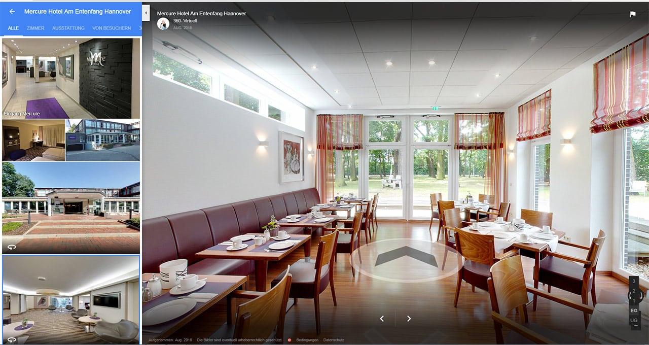 Virtueller Rundgang als Werbung für Hotels