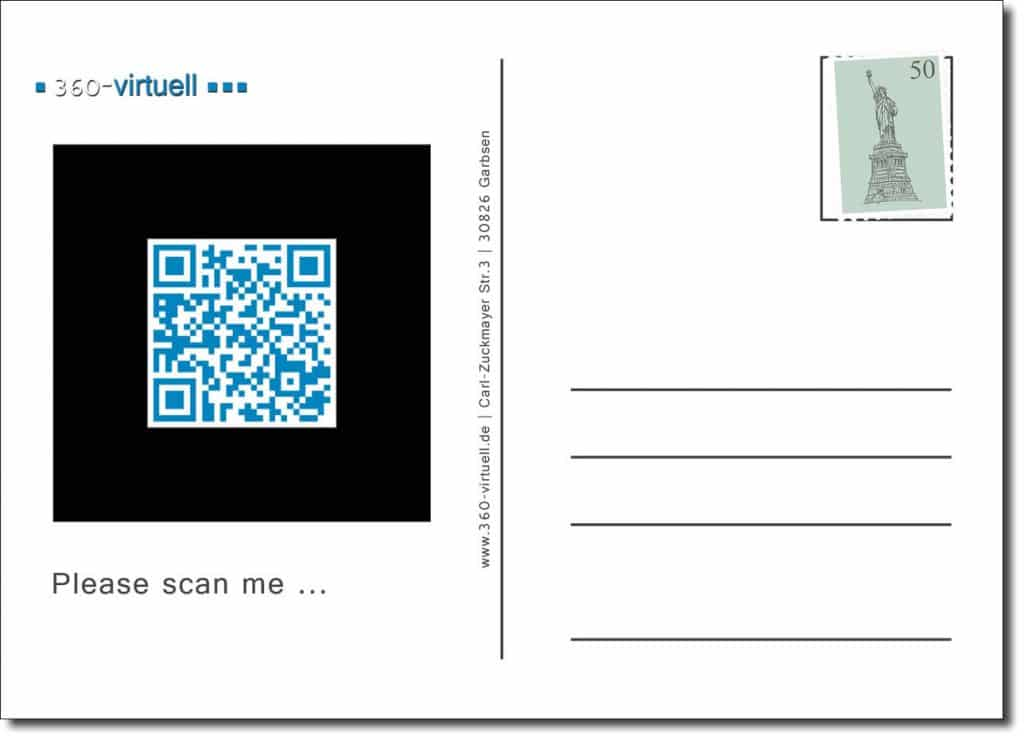 AR Postkarte zum scannen.