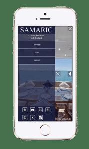 Yacht App für 360 Grad Tour inklusive Feature wie VR Brille, Gyroskop, Info-Points und Navigation