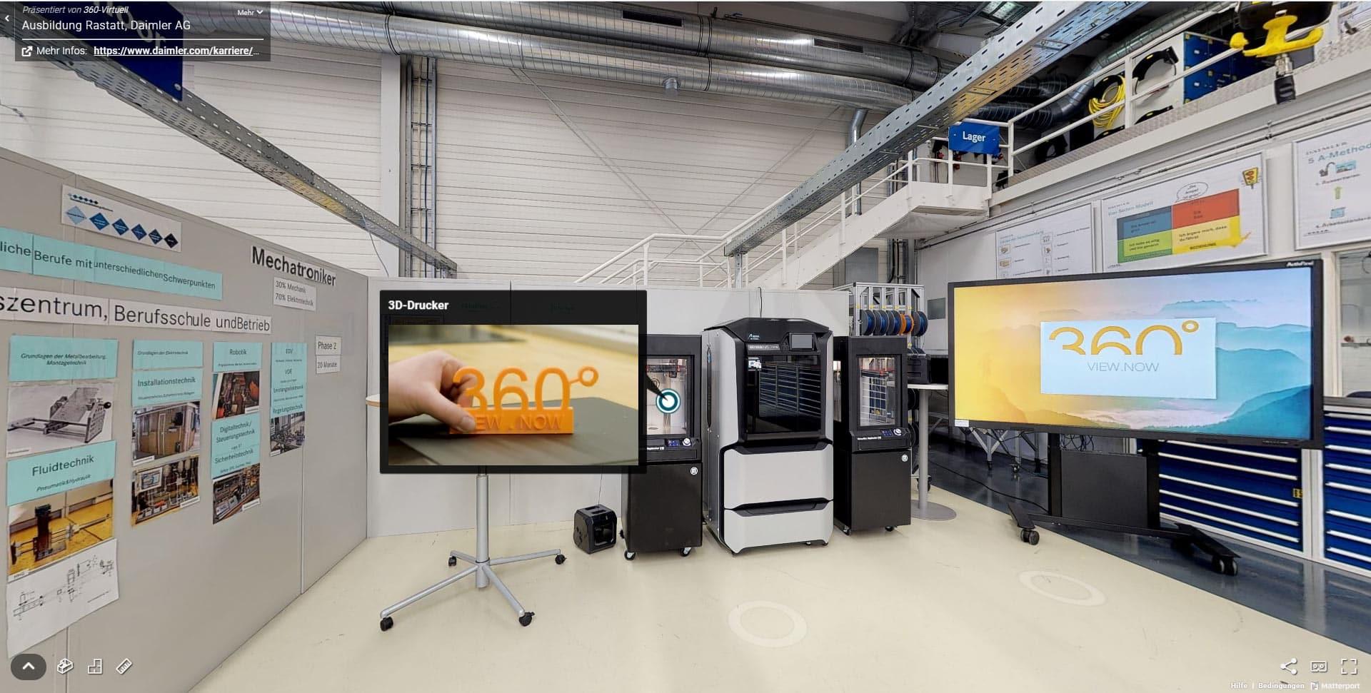 Ausbildungsstätte Daimler in 360 view