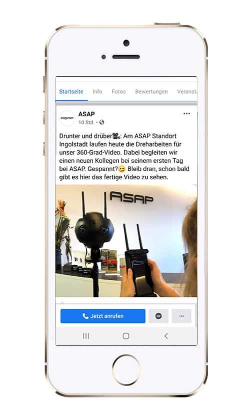 Azubi-Recruiting VR bei ASAP. 360° Video Produktion wir begleiten Sven an seinem ersten Arbeitstag als Softwareentwickler.
