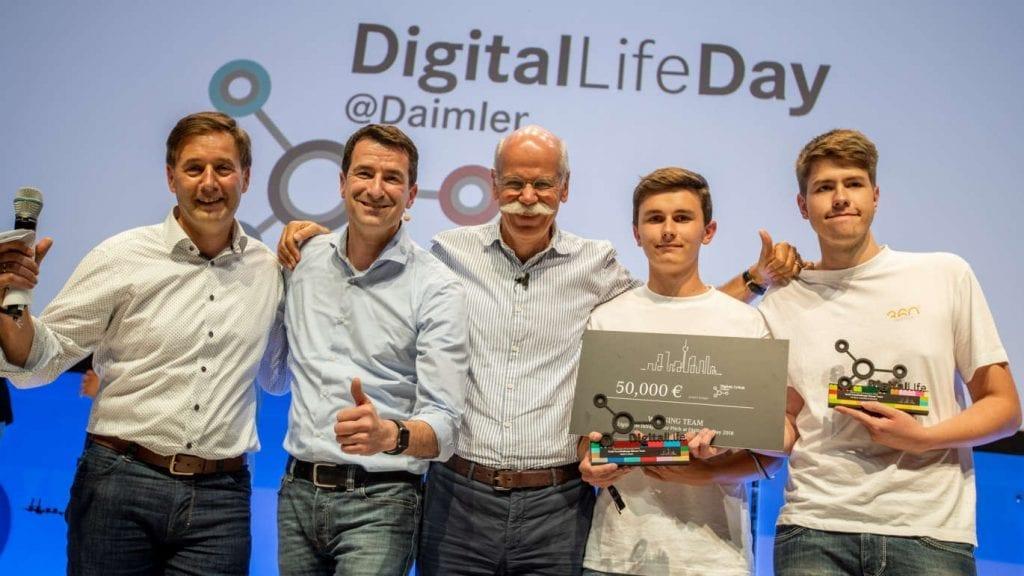 Azubi-Recruiting VR bei Daimler. Preisverleihung durch den 360° Workshop.
