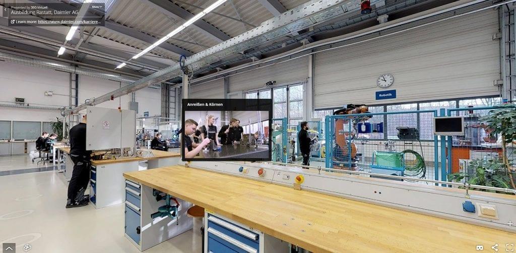 3D-Scan Tour Daimler Ausbildung